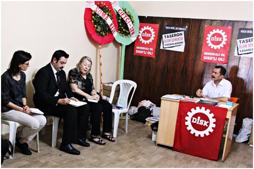 ILO HEYETİ SOMA'DA DEV. MADEN – SEN TEMSİLCİLİĞİNİ ZİYARET ETTİ
