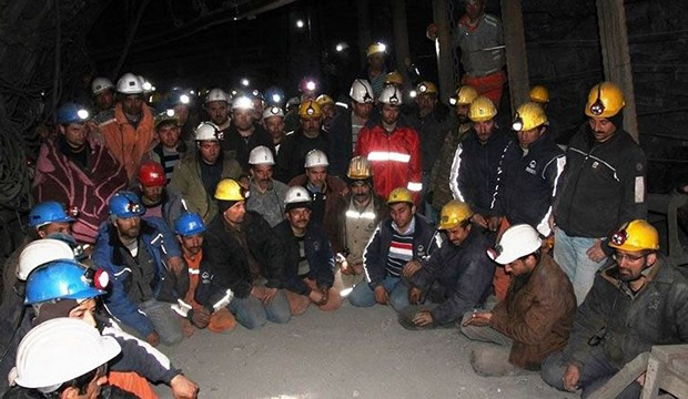 Yeni Çeltek'te Madenciler Yerin 1200 Metre Altında Açlık Grevinde