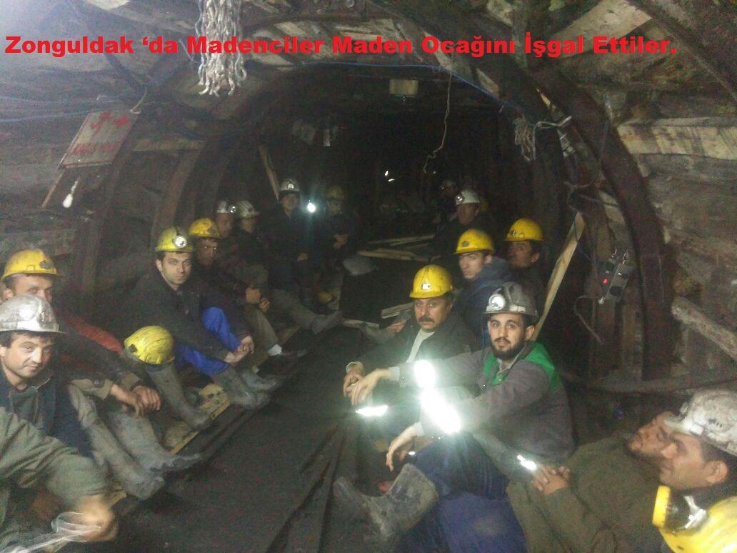 Zonguldak 'da Madenciler Maden Ocağını İşgal Ettiler.