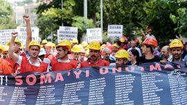 Soma'lı madenciler Ankara'da