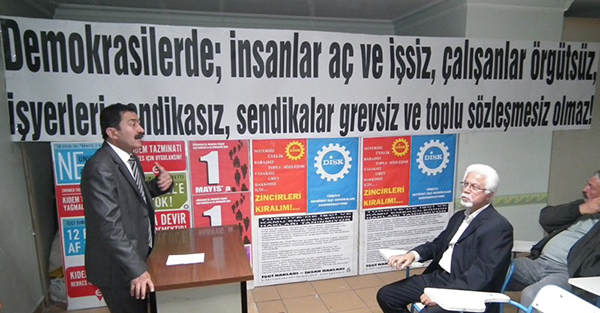 DEV.MADEN-SEN GENEL KURULUNDA DEMOKRASİ VE BARIŞ VURGUSU ÖNE ÇIKTI!