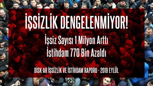 İŞSİZLİK DENGELENMİYOR!