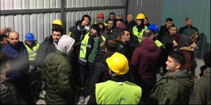 Dev.Maden-Sen Üyesi İşçiler İş güvenliği İçin İş Bıraktı