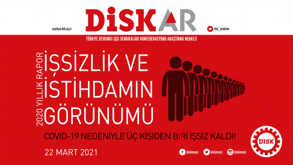 DİSK-AR İşsizlik ve İstihdamın Görünümü Raporu yayımlandı